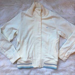 Nike White and Blue Varsity Jacket